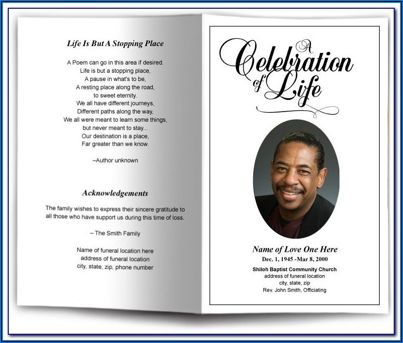 Funeral Programs Templates Microsoft Word
