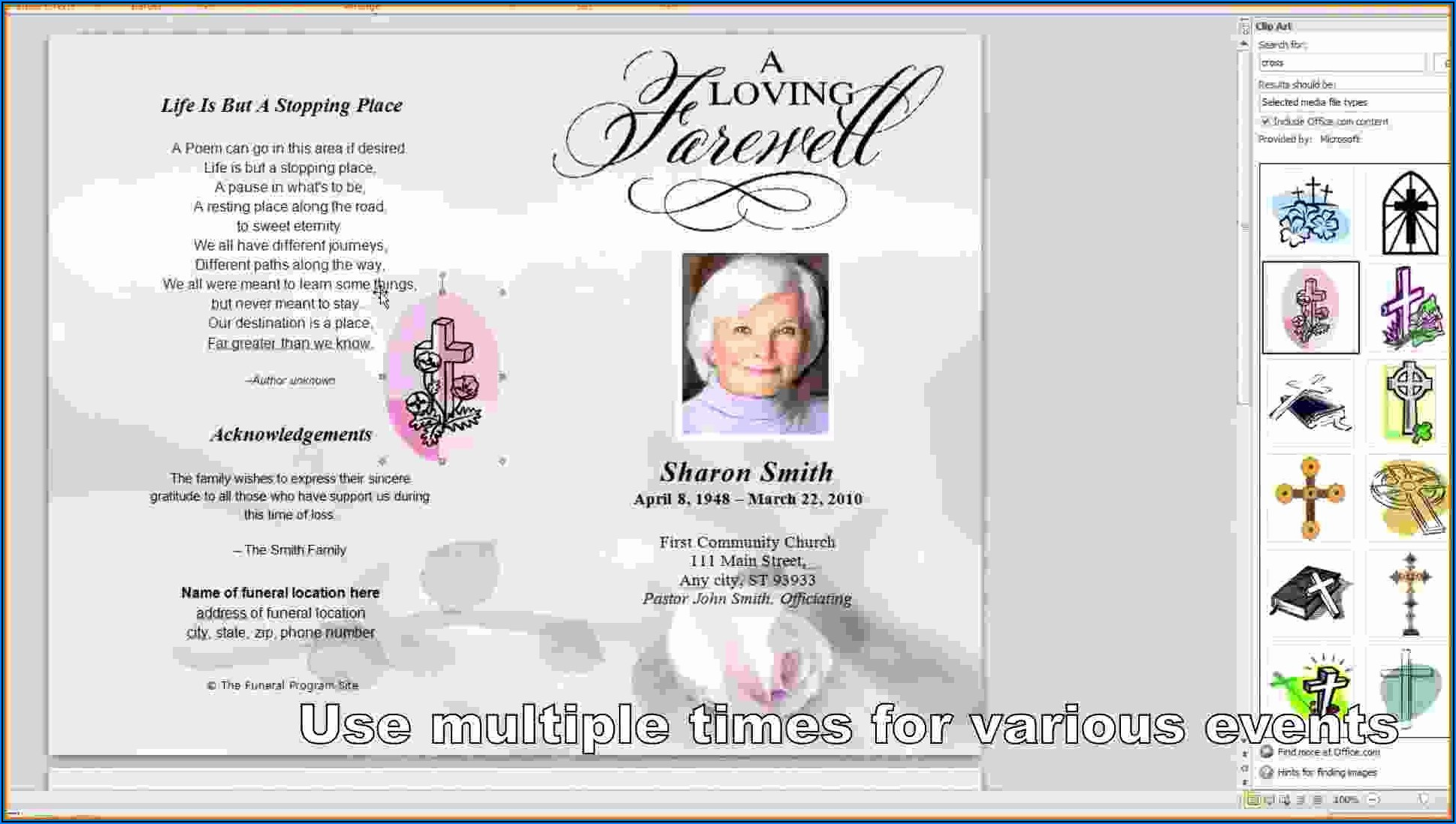 Funeral Programs Templates