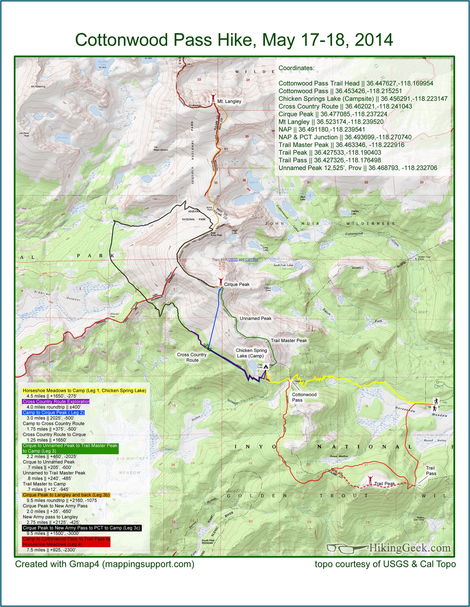 Garmin Hiking Trail Maps
