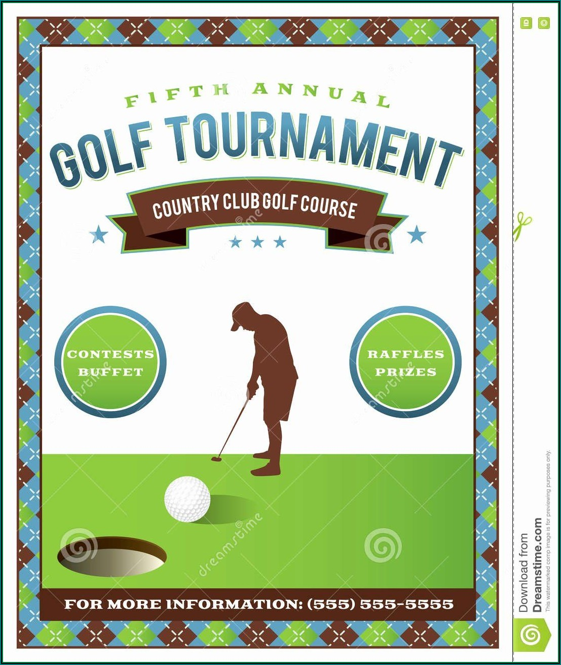 Golf Tournament Brochure Template Free