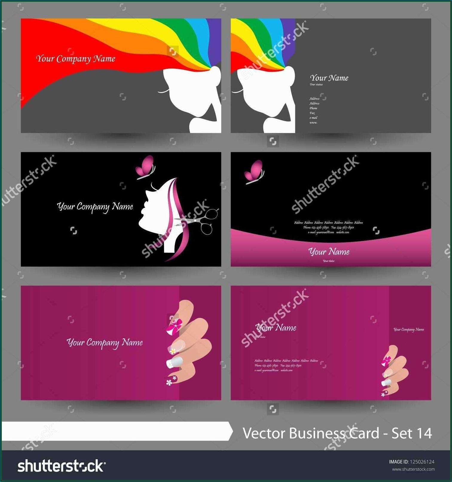 Hair Salon Business Cards Templates Free