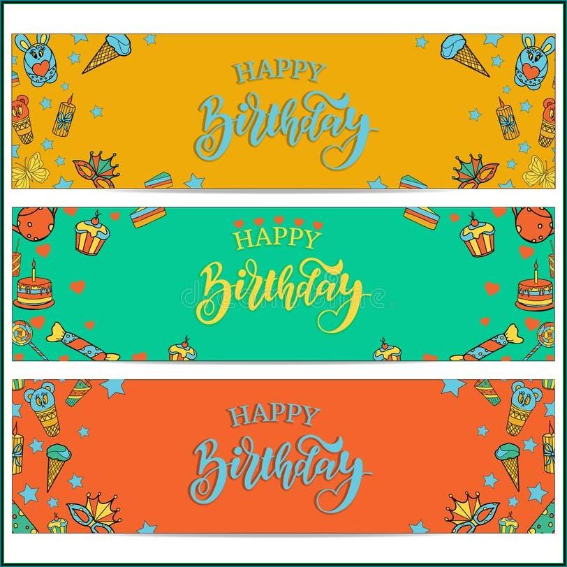 Happy Birthday Banners Templates