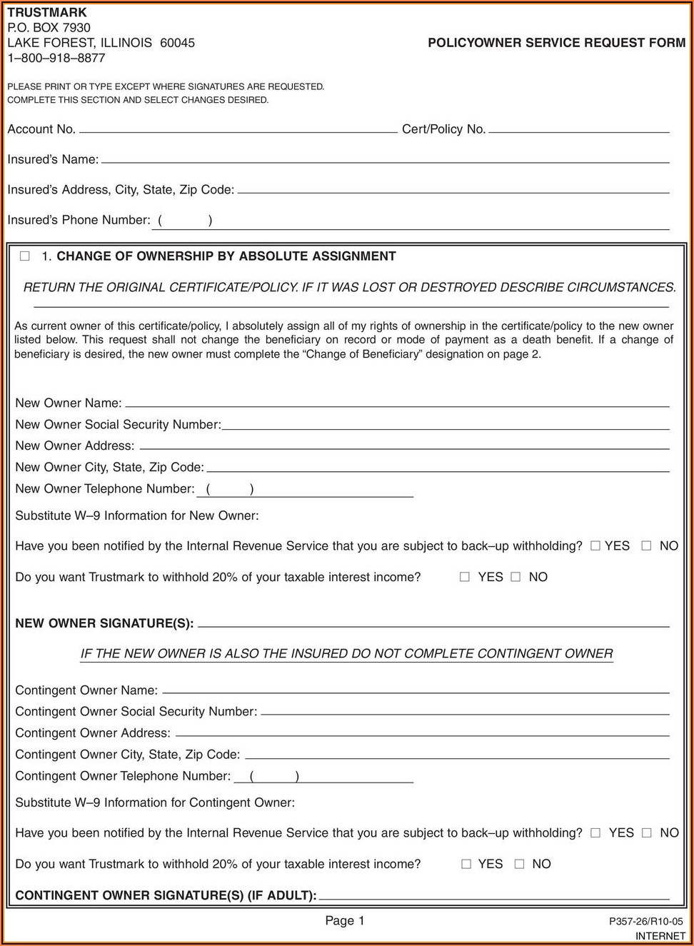 Hartford Life And Annuity Insurance Company Change Of Beneficiary Form