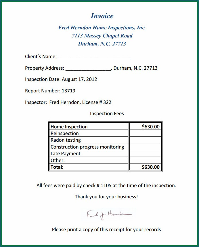 Home Inspection Report Template Pdf