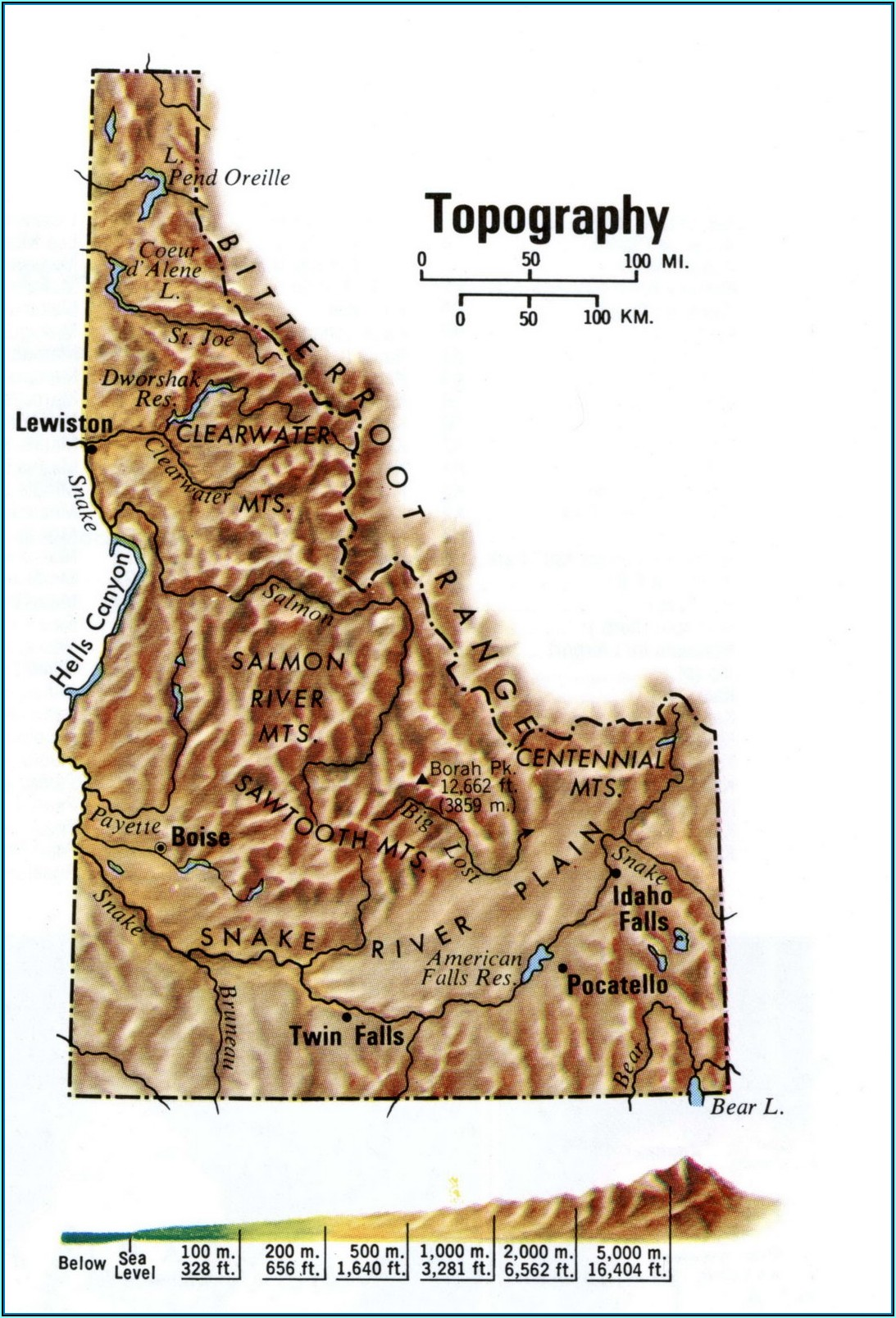 Idaho Topographic Maps