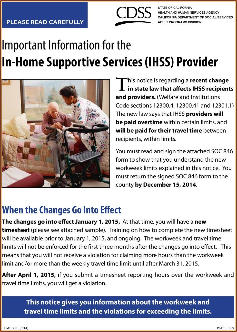 Ihss Provider Enrollment Form Soc 846