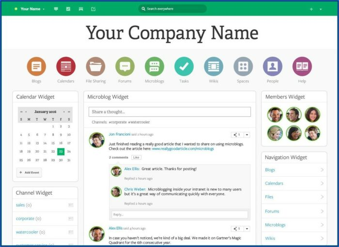 Intranet Html Templates Free Download
