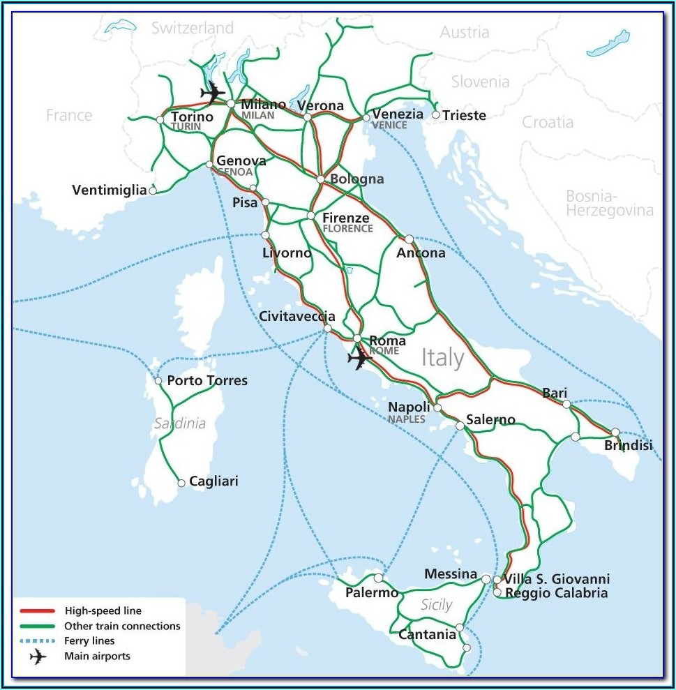 Italy Rail Map Bueker