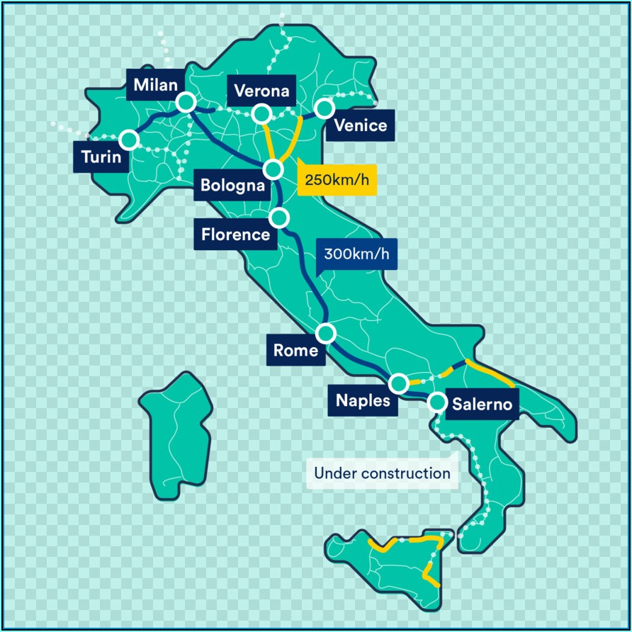 Italy Rail Map High Speed