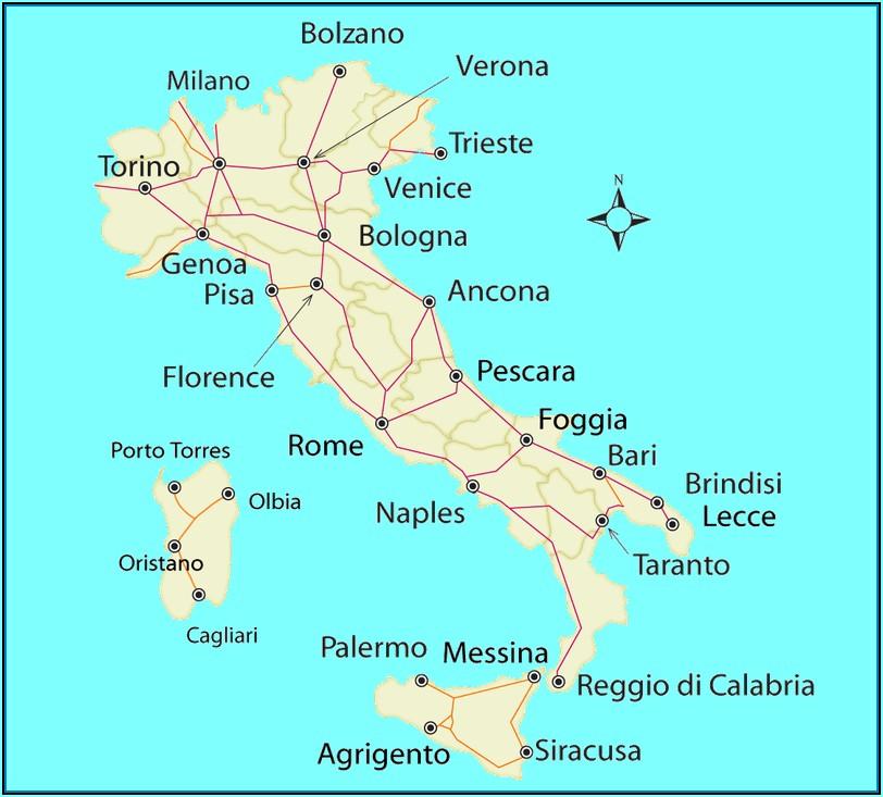 Italy Rail Map Tuscany