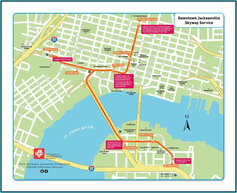 Jacksonville International Airport Parking Map