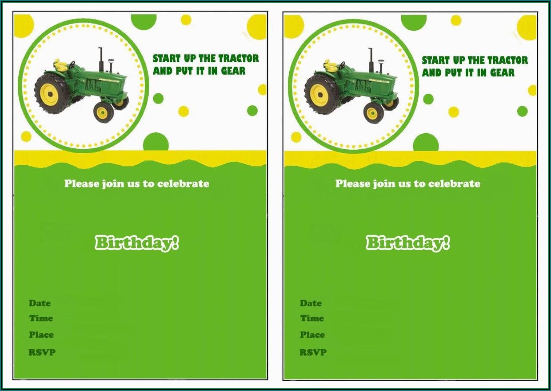 John Deere Birthday Party Invitation Templates