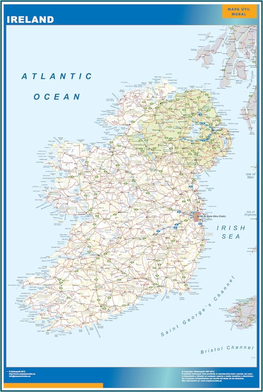 Laminated Wall Map Of Ireland