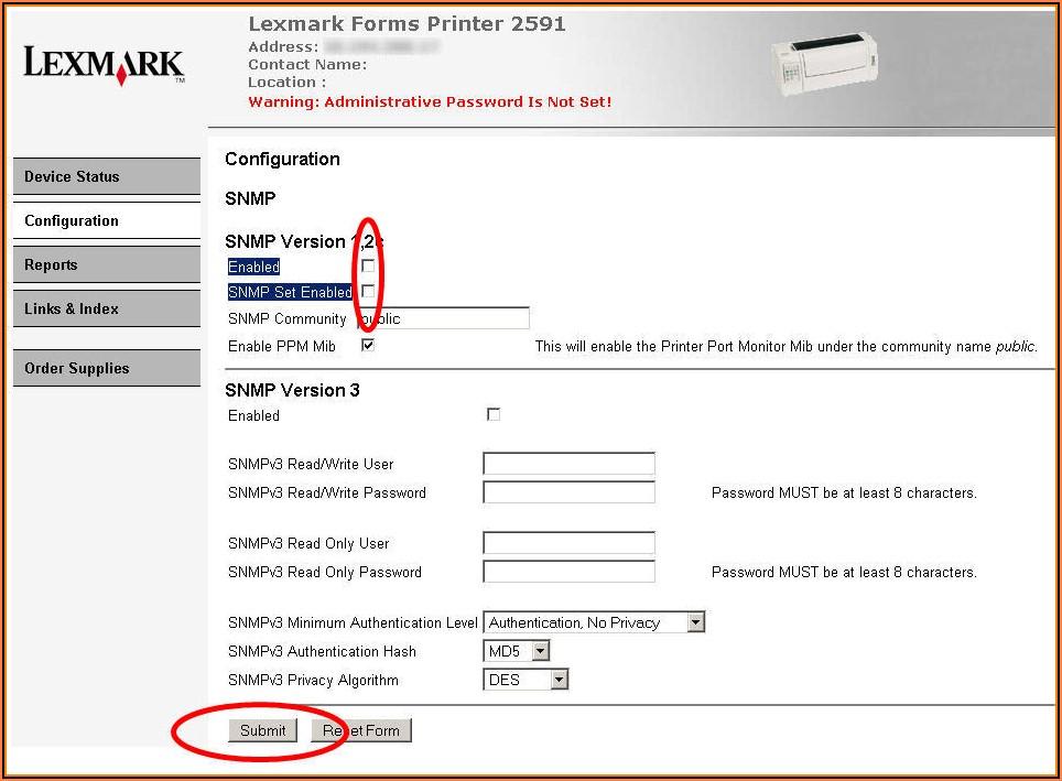 Lexmark Forms Printer