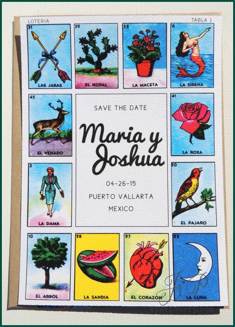 Loteria Invitation Template Free