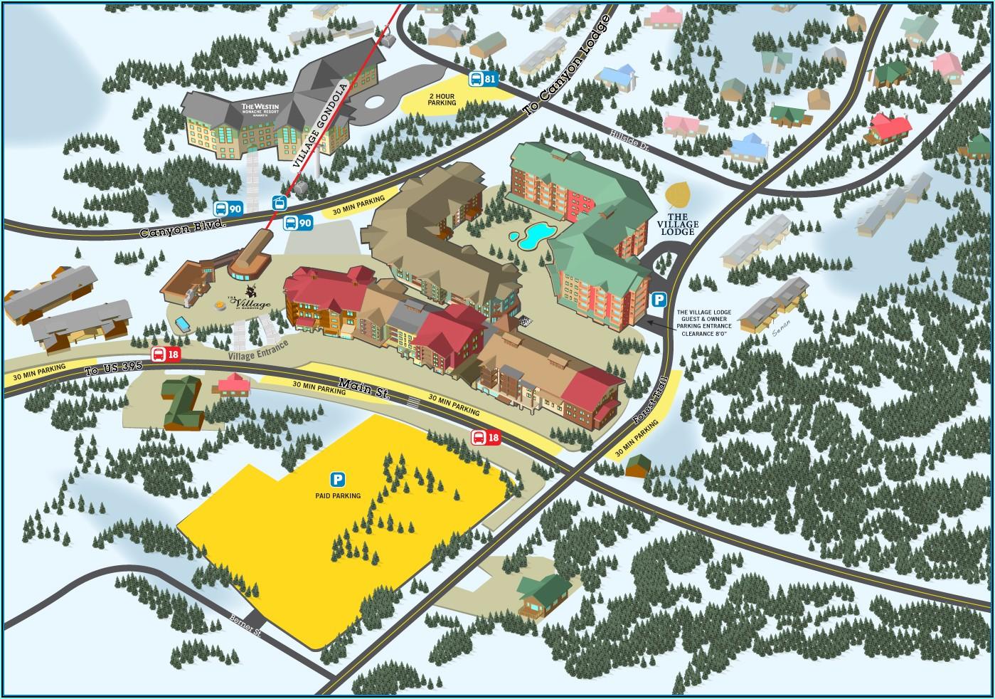 Mammoth Mountain Lodging Map