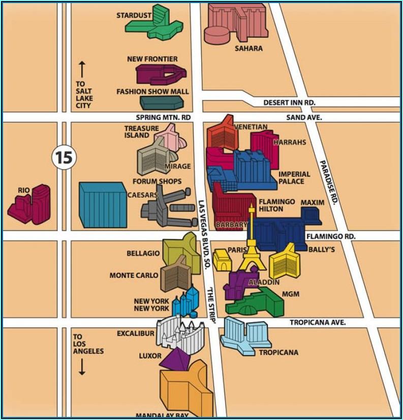 Map Of Hotel On Las Vegas Strip