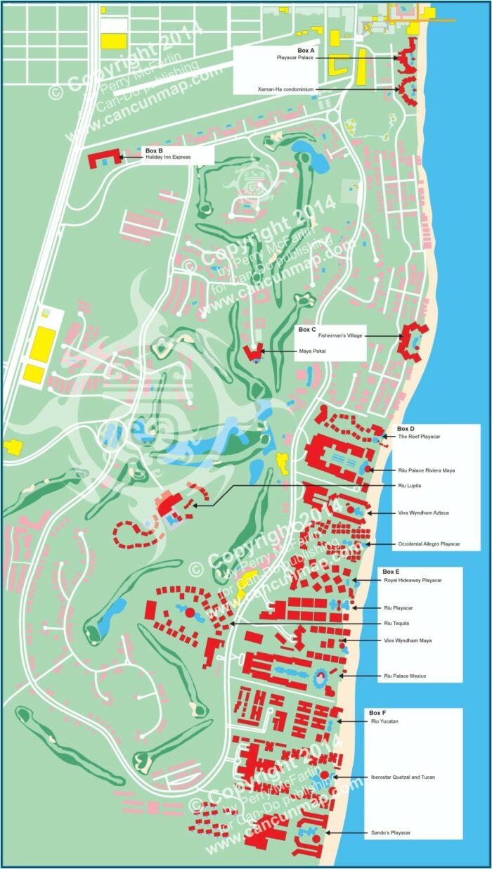 Map Of Hotels Playa Del Carmen