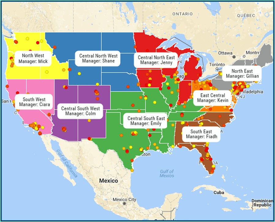 Map Out Sales Territories