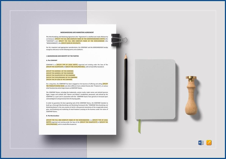 Marketing Agreement Template Word
