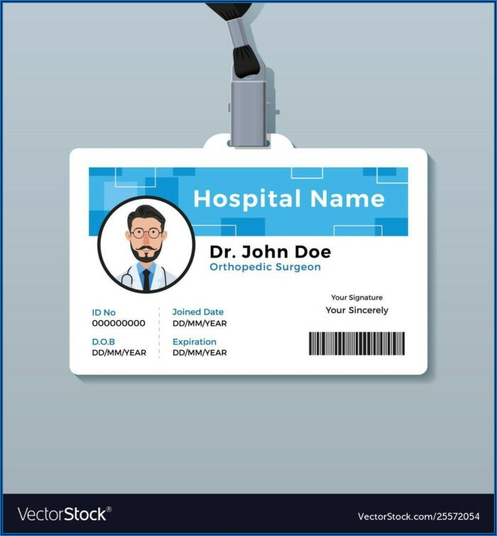 Medical Id Card Template