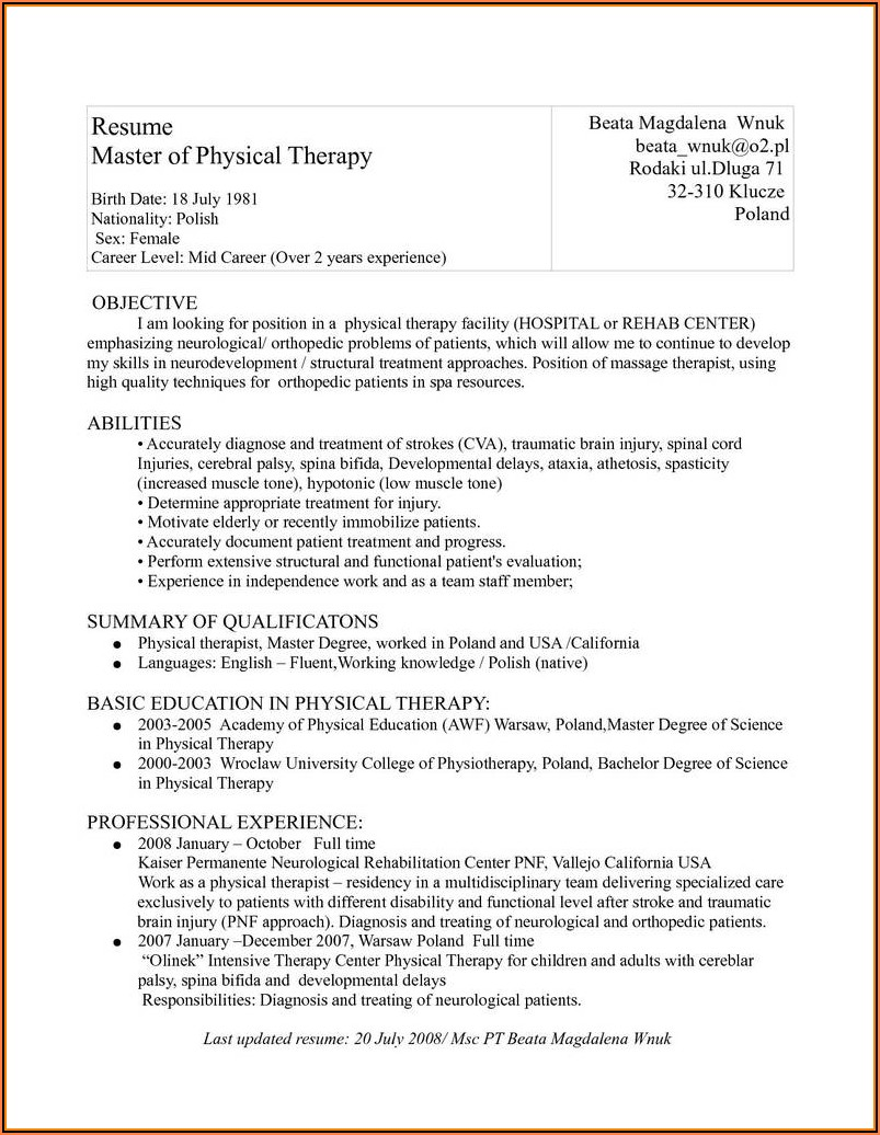 Medical Intake Form For Massage Therapy