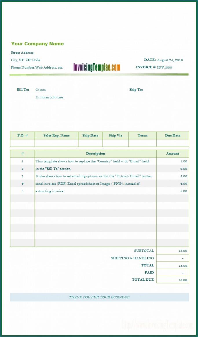 Microsoft Windows Invoice Template