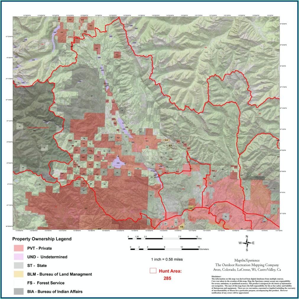Montana Hunting Maps Gps
