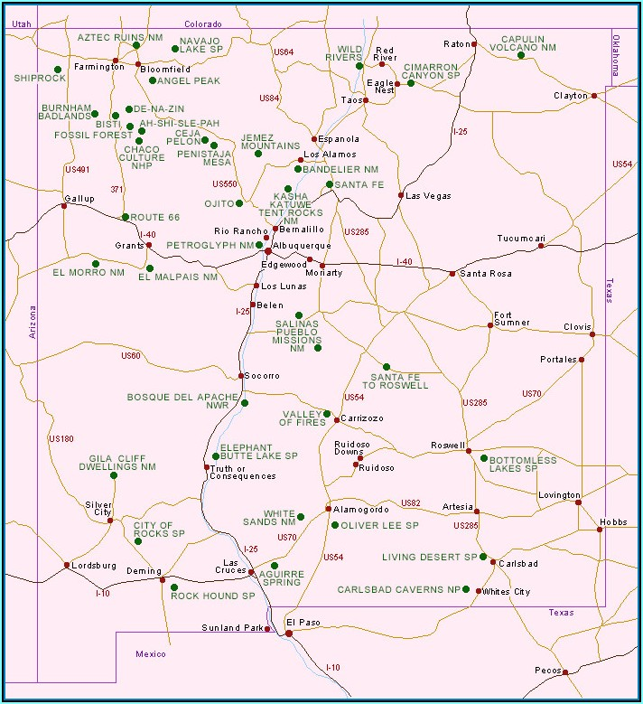 National Parks Western Usa Map