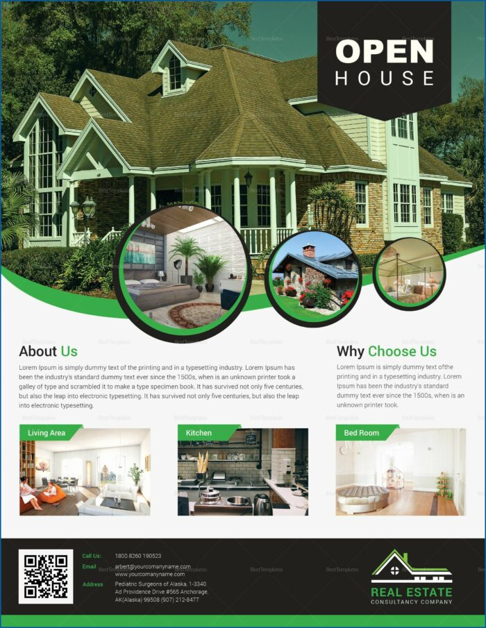 Open House Flyer Template Free Publisher
