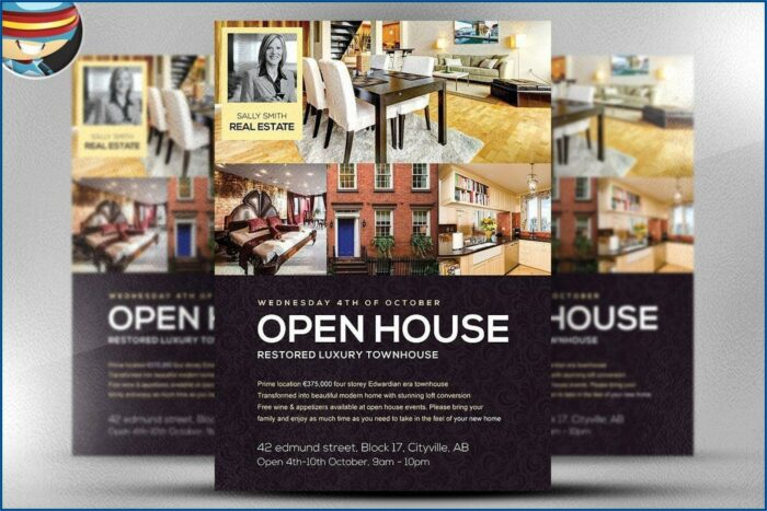 Open House Flyer Template Word