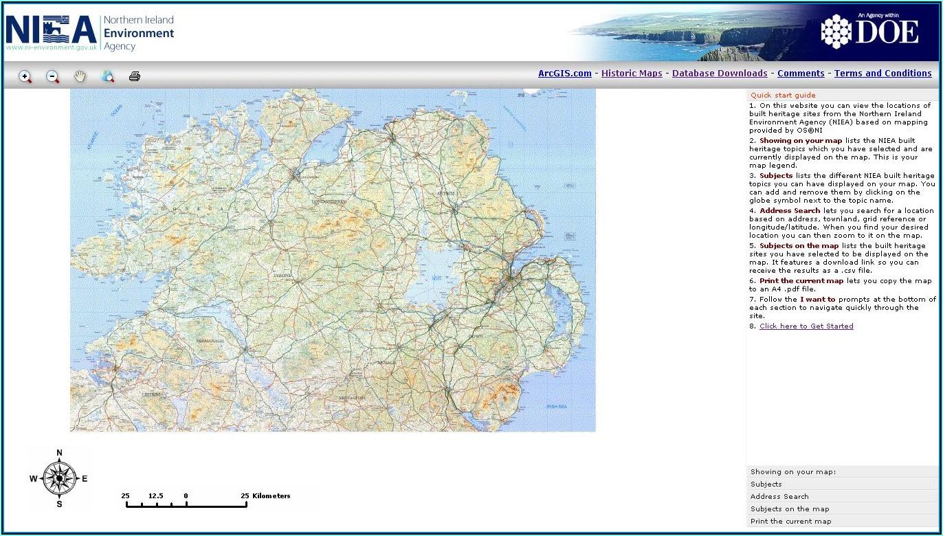 Ordnance Survey Maps Online Free Northern Ireland