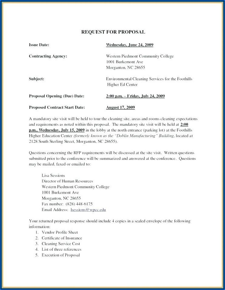 Photography Proposal Template Pdf