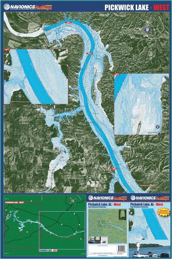 Pickwick Lake Fishing Map
