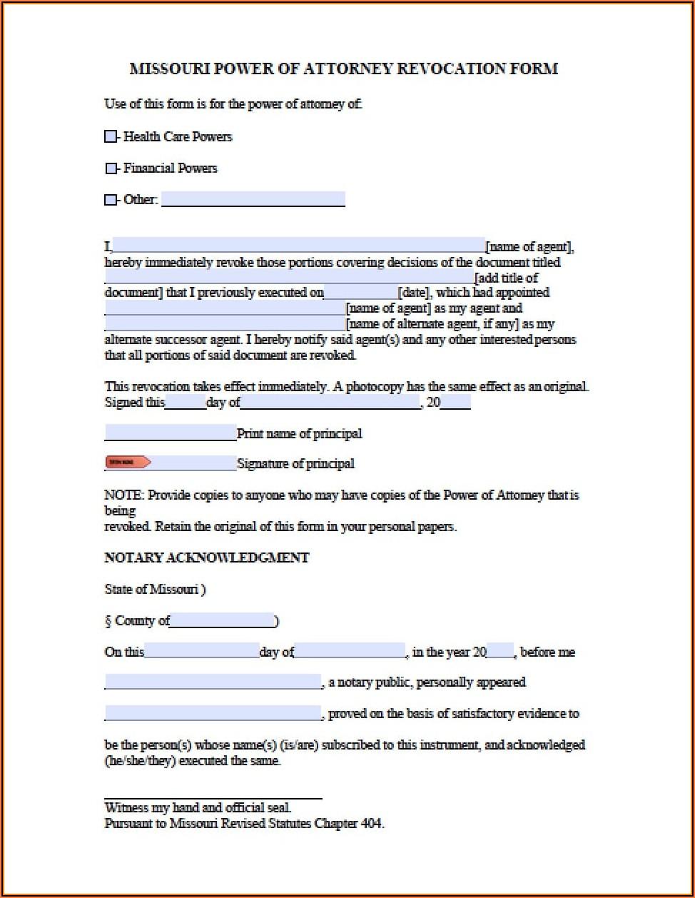 Poa Revocation Form Irs