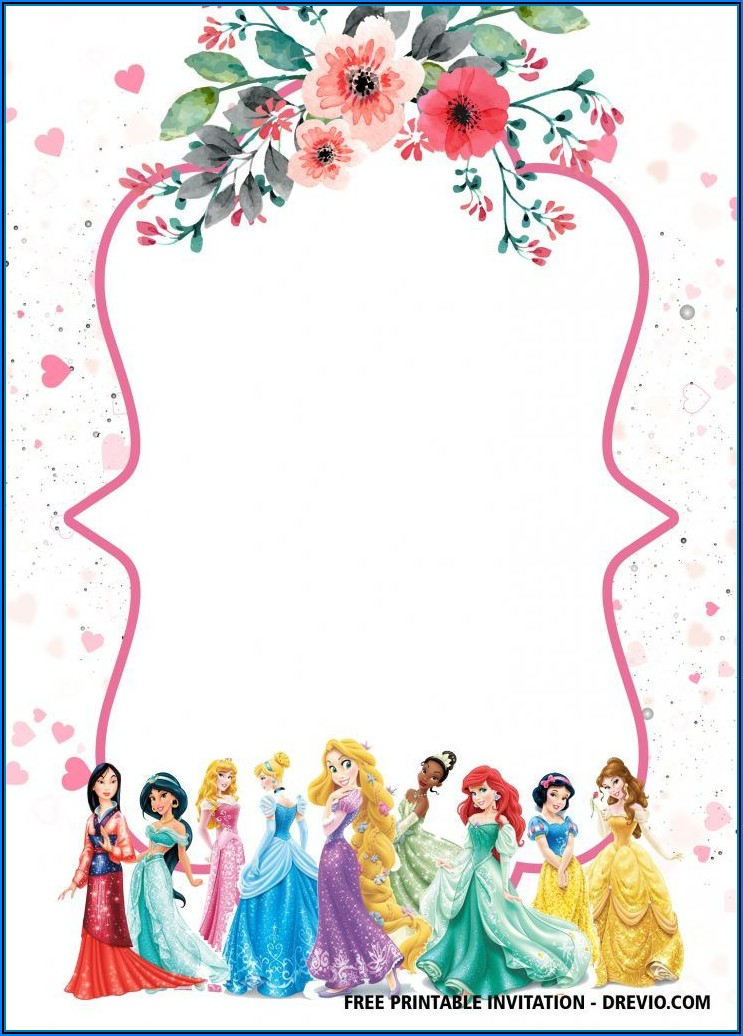 Princess Invitations Free Template