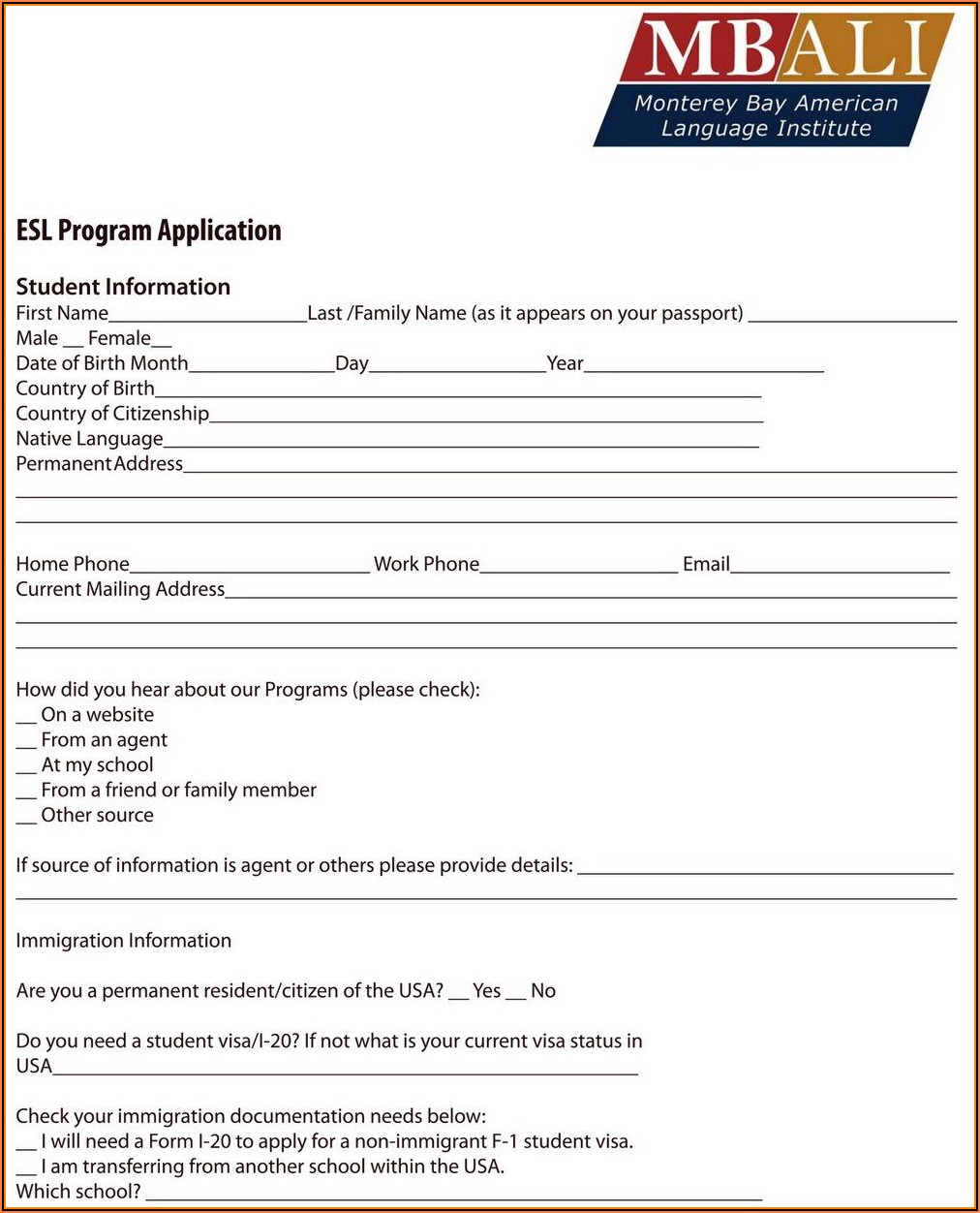 Printable Social Security Disability Application Form