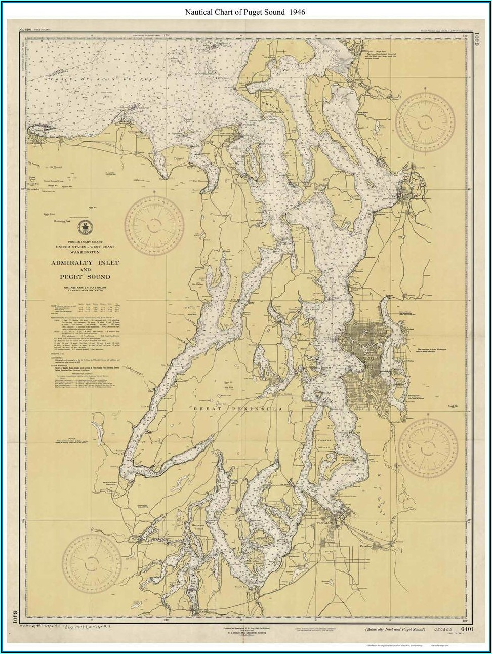Puget Sound Topo Map