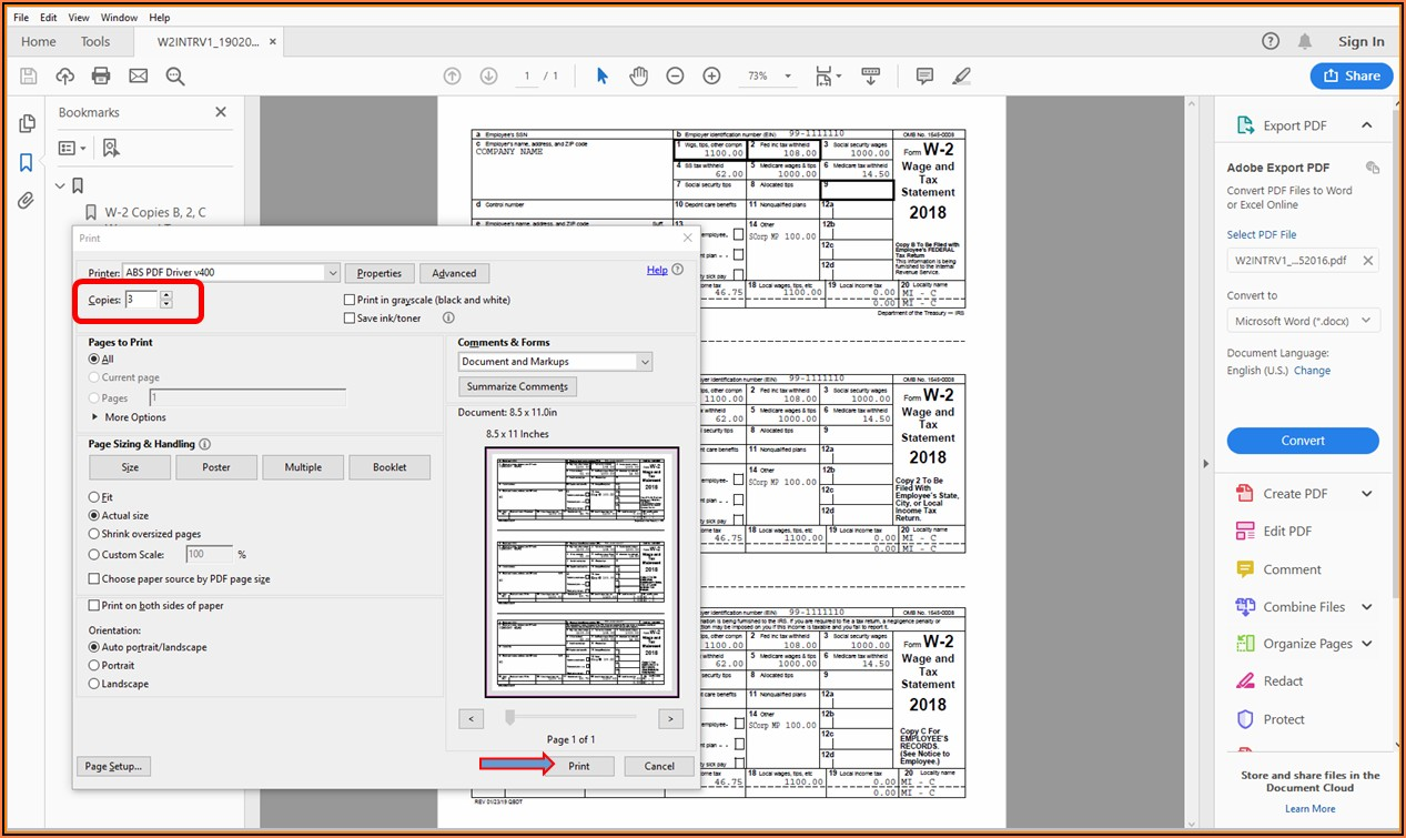 Quickbooks Compatible W 2 Forms