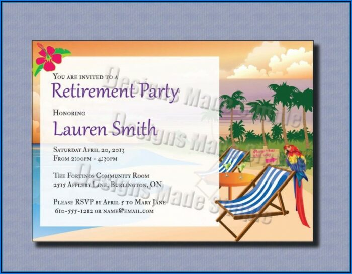 Retirement Party Invite Free Download