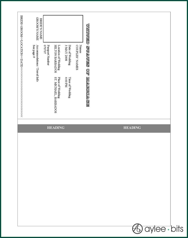 Safari Passport Invitation Template Free