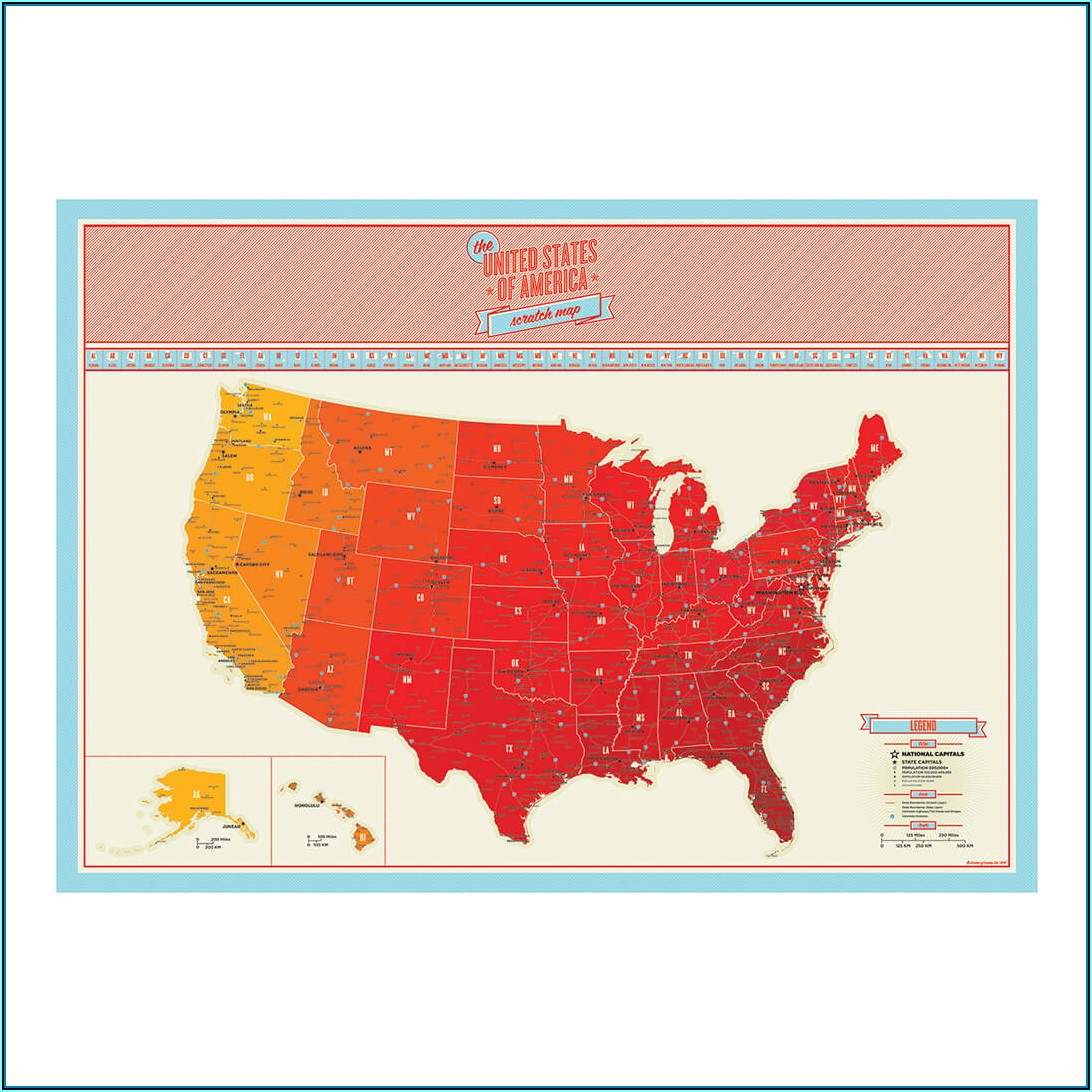 Scratch Map Usa Luckies