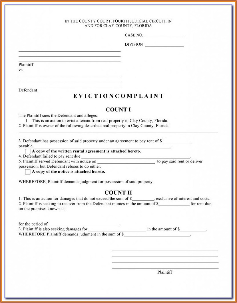 Tenant Eviction Forms