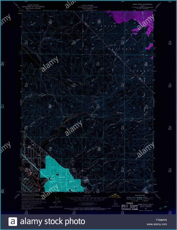 Topo Map Boise Idaho