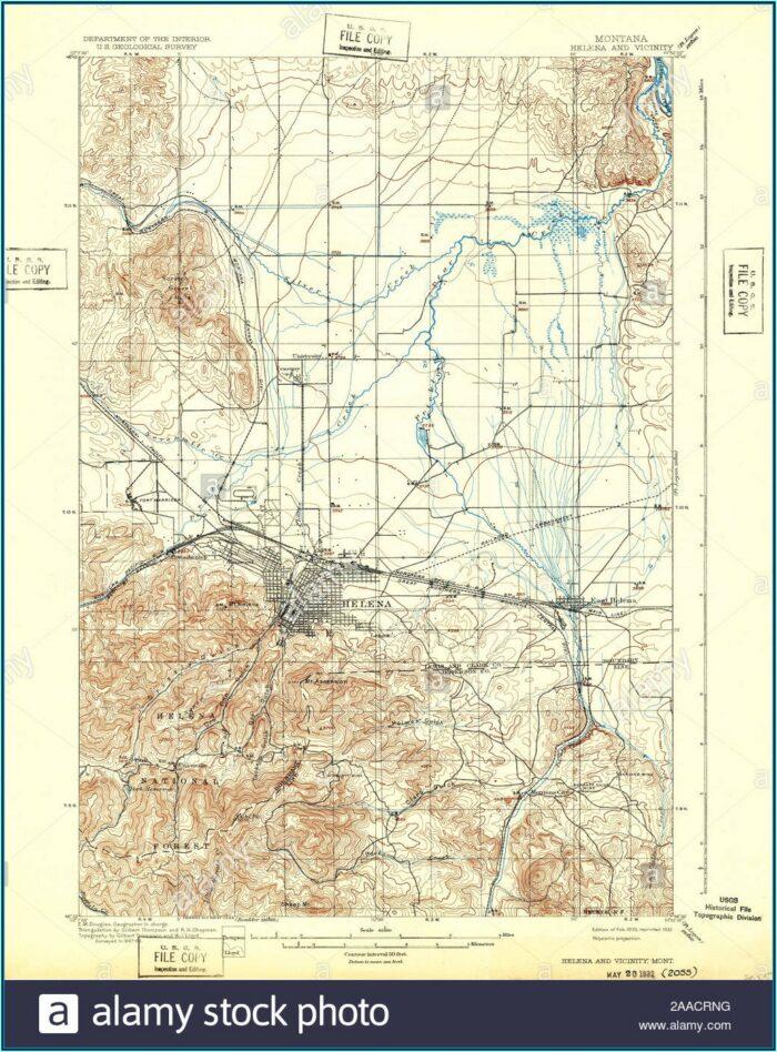 Topo Map Montana