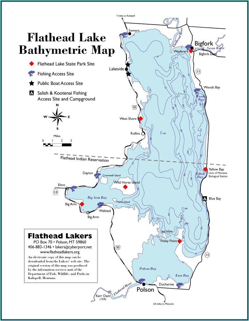 Topo Map Of Flathead County Montana