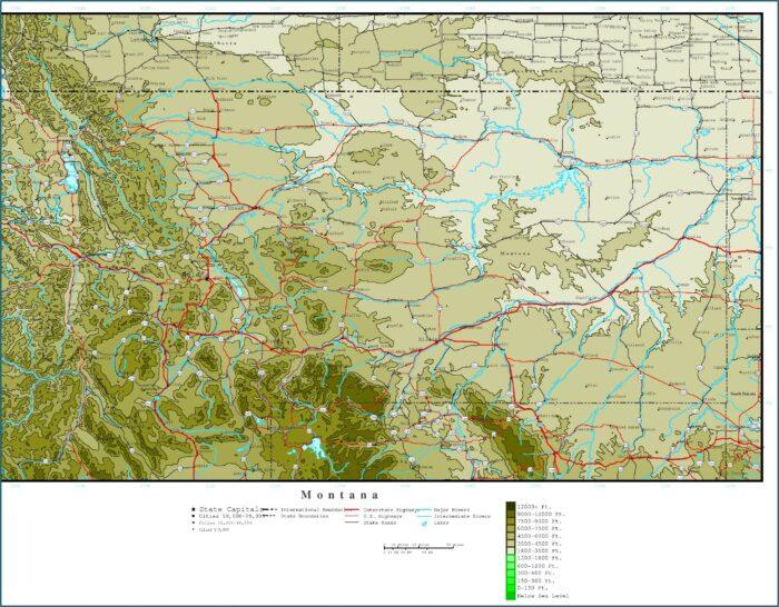 Topo Map Of Western Montana