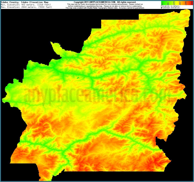 Topo Maps Idaho