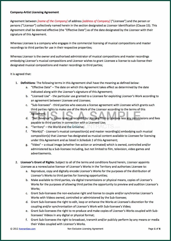 Trademark Sublicense Agreement Template