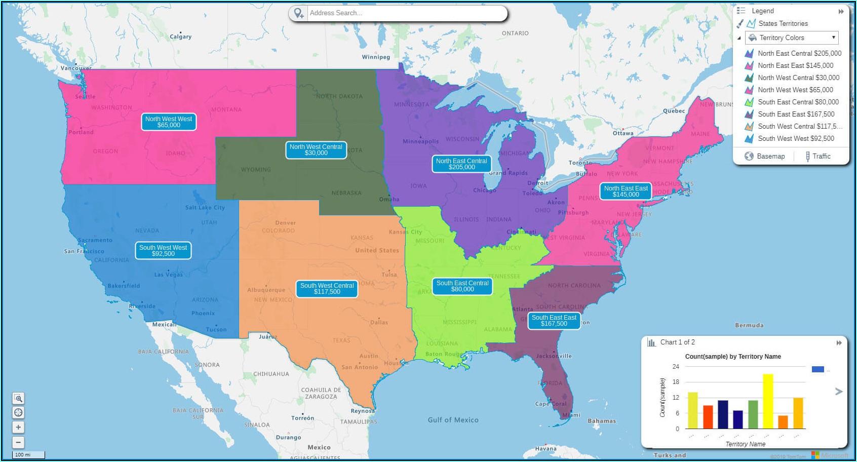 Us Map Sales Territories Free